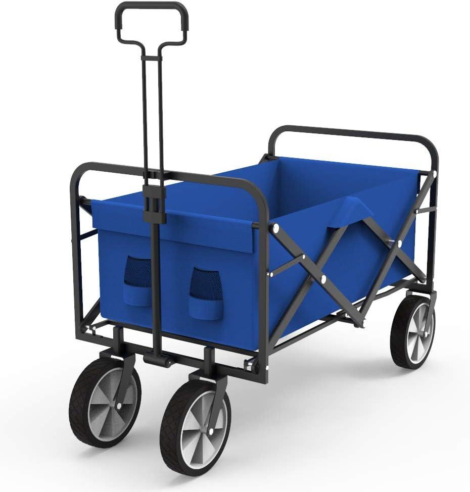 SMUGDESK.COM Outdoor Folding Wagon, Blue