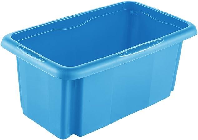 keeeper Caja de Almacenaje con Sistema de Apilado, 35 x 20,5 x 15 cm, 7 l, Emil, Azul: Amazon.es: Hogar