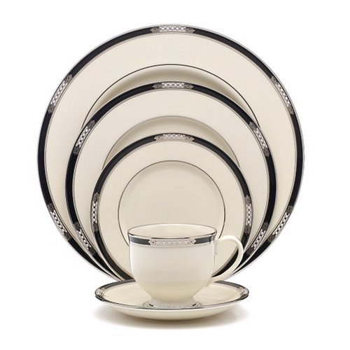 (Lenox Hancock Platinum Ivory China 5-Piece Place Setting, Service for 1)