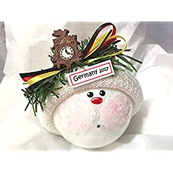 Germany Souvenir German Cuckoo Clock Christmas Ornament Hand Painted Hand Made Personalized and Themed by Townsend Custom Gifts - 509