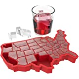 True Fabrication 3326 U Ice Of A Red Silicone Ice Cube Tray, Multicolor