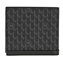Montblanc Meisterstuck Signature Black Wallet 4CC with Coin Case 106750