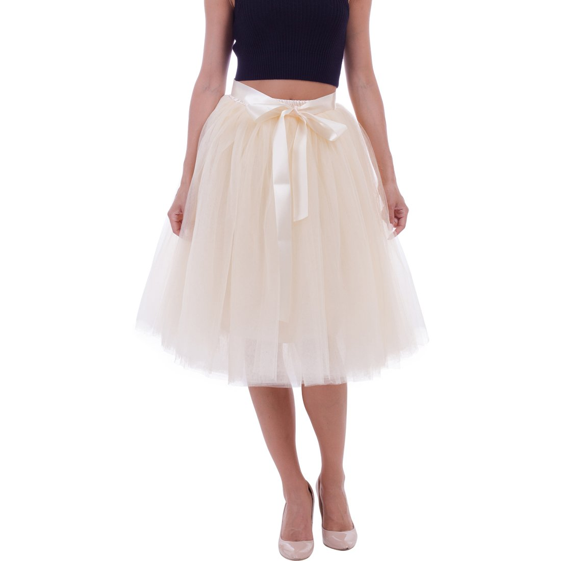 753fe678c Adjustable Waist: 65-110cm/25.5-43.3inches, the waist can stretch up to  110cm/43.3inches, The Skirt length is 65cm/25.6inches.