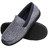 Hanes Men's Slippers House Shoes Moccasin Comfort Memory Foam Indoor...