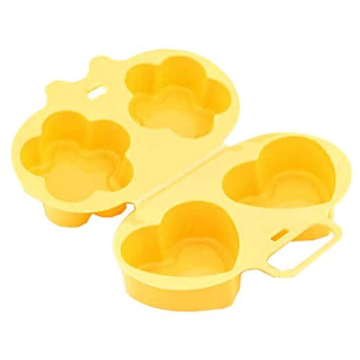Aisoway Microondas Huevo cocido al Vapor de la Flor del Molde en ...