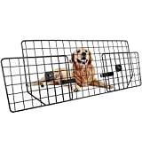 Dog Car Barrier for SUVs, Van, Vehicles - Adjustable Large Pet SUV Barriers Universal-Fit, Heavy-Duty Wire Mesh Dog Car...