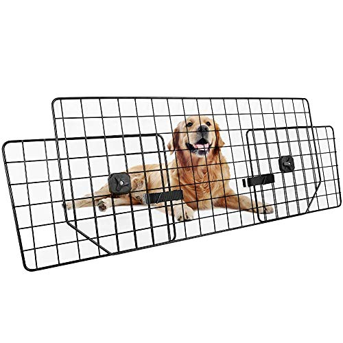 Dog Car Barrier for SUVs, Van, Vehicles - Adjustable Large Pet SUV Barriers Universal-Fit, Heavy-Duty Wire Mesh Dog Car Guard, SUV Pet Car Gate for Vehicles, Safety Car Divider for - Safety Wire Mesh Gate
