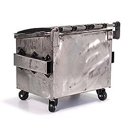 Dumpsty Raw Steel Desktop Dumpster