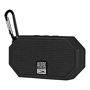 Altec Lansing IMW257-BLK Mini H2O Wireless Bluetooth Waterproof Speaker, Floats on Water, Made for Outdoors, Indoors, Beach, Rugged & Strong, Hands-Free Talk, 6 Hour Battery Life, Ultra-Portable