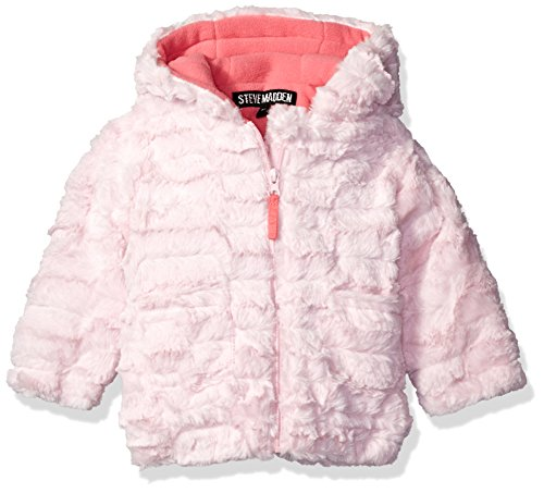 Little Girls Coat (Steve Madden Baby Girls' Plush Textured Knit Jacket, Ballerina, 24 Months)