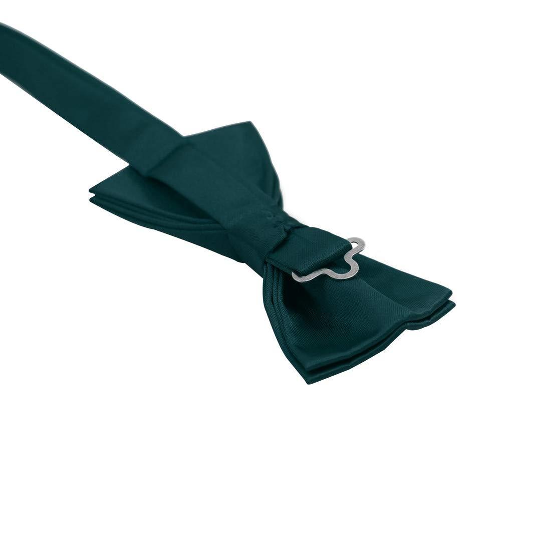 Dan Smith DGEE0001-M Black Solid Microfiber Design Dress Vests Satin For Work-Utility Vest Matching Bow Tie