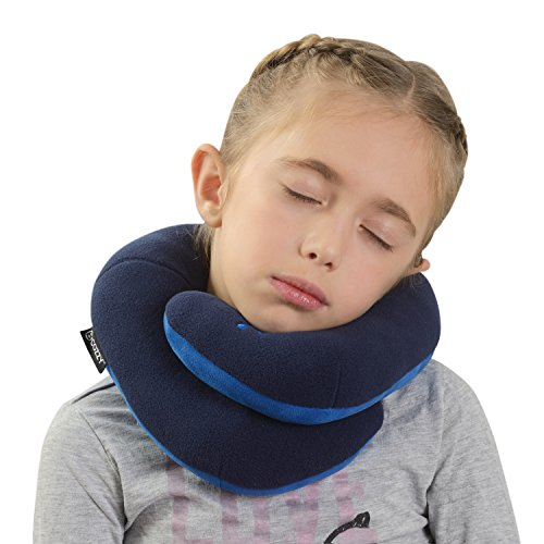 BCOZZY Kids Chin Supporting Travel Neck Pillow - Supports the...