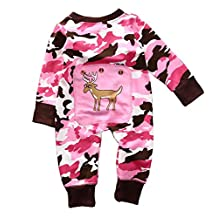 Xmas Camouflage Baby Boys Girls Clothes Cotton Romper Jumpsuit One-piece Outfits
