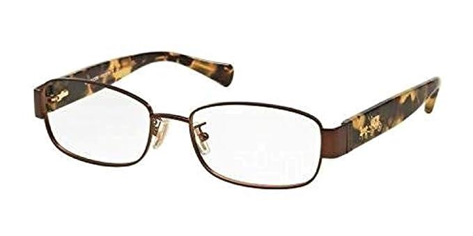 e69333f732 Coach Women s HC5075 Eyeglasses Satin Brown Dark Vintage Tort 53mm ...