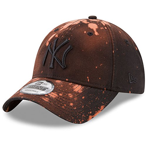 New Era New York Yankees Bleached Out 9Twenty Men's Strapback Hat Cap Brown 11520522 (Size os)
