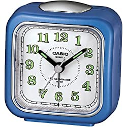 Casio Tq-157-2 Table Top Travel Alarm Clock Blue
