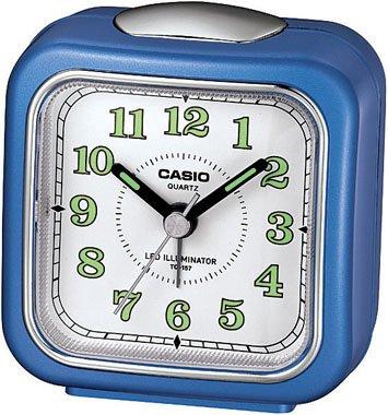(Casio Tq-157-2 Table Top Travel Alarm Clock Blue)