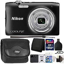 Nikon COOLPIX A100 20.1MP f/3.7-6.4 Max Aperture Compact Digital Camera + Accessory Kit Black
