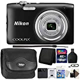 Nikon COOLPIX A100 20.1MP f/3.7-6.4 Max Aperture Compact Digital Camera + Accessory Kit Black