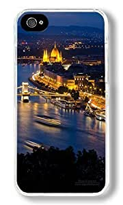 European City Night 02 Custom iPhone 4S Case Back Cover, Snap-on Shell Case Polycarbonate PC Plastic Hard Case Transparent