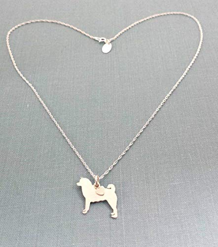 Akita Sterling Dog charm Necklace Pet memorial silhouette Personalize Monogram jewelry