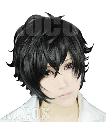 springcos Men Short Wigs for Persona 5 Cosplay Black