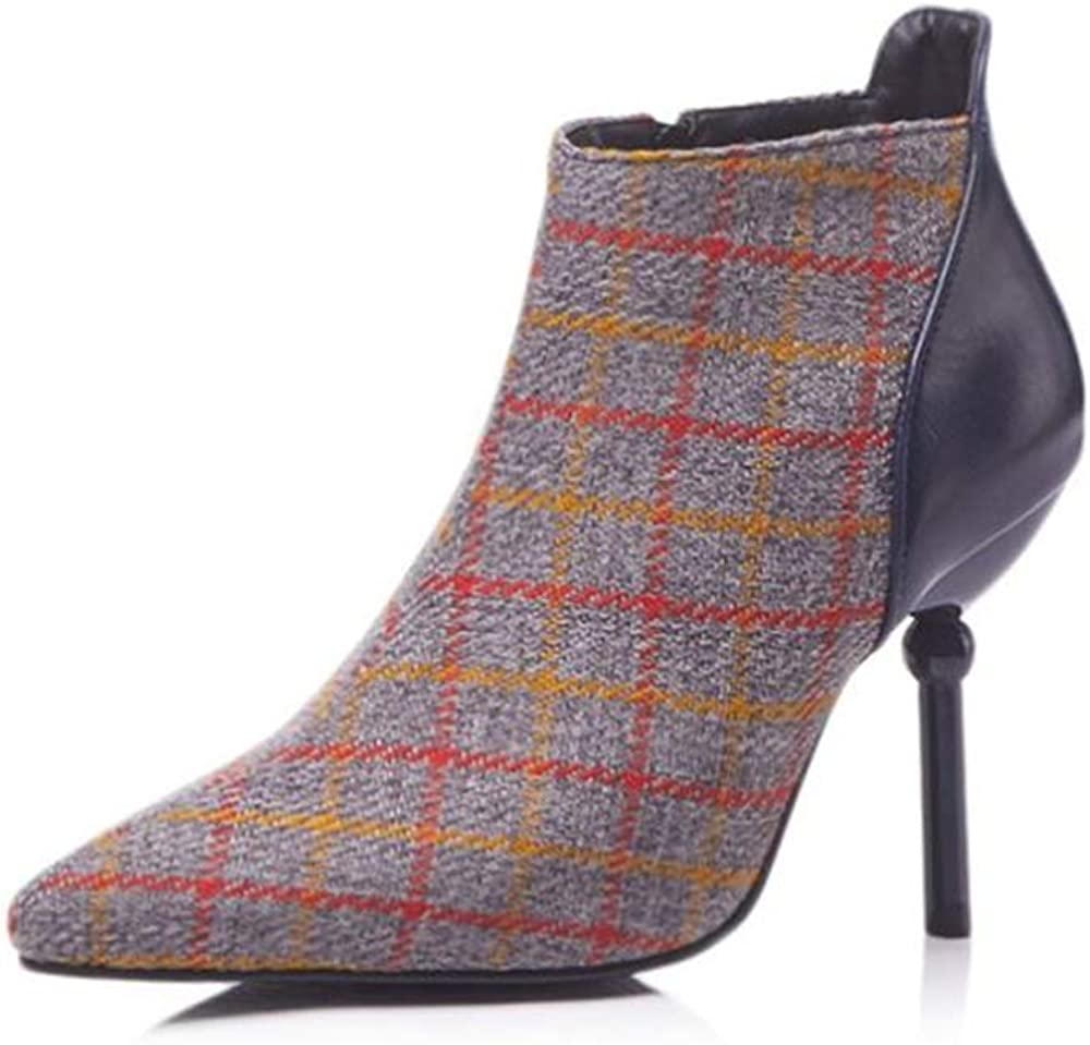 unyielding1 Women Military Platform Ankle Bootie Stiletto Boots high-Heel Boots Winter Boots