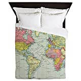 CafePress - Vintage Political Map Of The World (1922) - Queen Duvet Cover, Printed Comforter Cover, Unique Bedding, Luxe