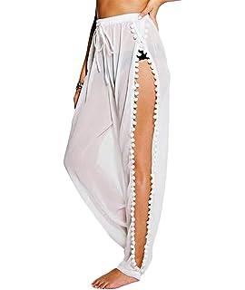 10d8572859e Amazon.com  Lalagen Womens Wrap High Waist Summer Beach Cover Up ...