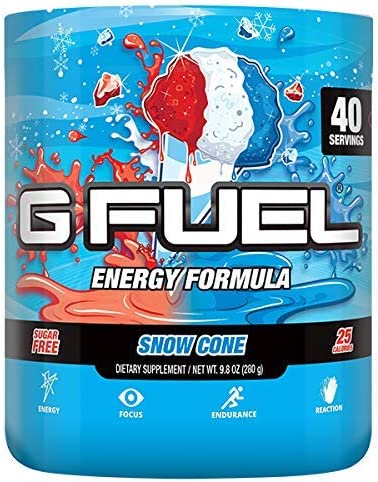 G Fuel Snow Cone 40 Servings Elite Energy and Endurance Formula 9.8 oz.