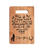 Mothers Gift Special Love Heart Poem Bamboo Cutting Board Mom Present Mother Day Mom Birthday Holiday Engraved Side For Decor Display or Hanging Reverse Side For Usage