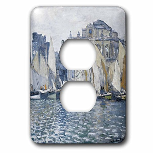 3dRose lsp_178905_6 Le Havre Museum Monet Vintage With Boats Outlet Cover