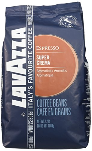 Lavazza Whole Bean - Lavazza Super Crema Espresso Whole Bean Coffee, 2.2-pound Bag 2-pack