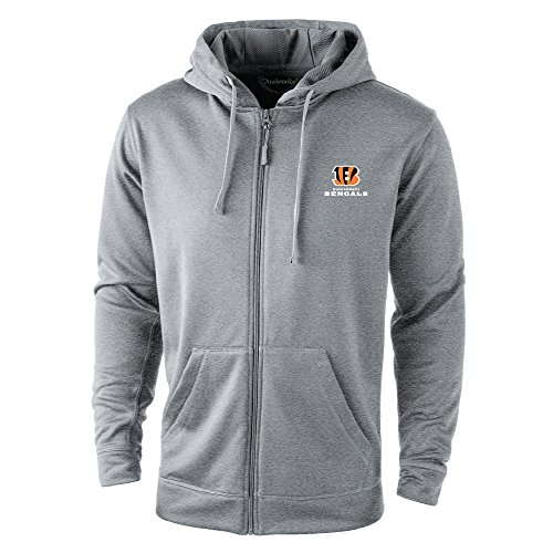 NFL Cincinnati Bengals Trophy Tech Fleece Full Zip Hoodie, Large, Grey