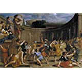 Oil painting 'Romanelli Giovanni Francesco Gladiadores romanos 1635 39 ' printing on high quality polyster Canvas , 20 x 30 inch / 51 x 76 cm ,the best Foyer artwork and Home gallery art and Gifts is this High quality Art Decorative Canvas Prints