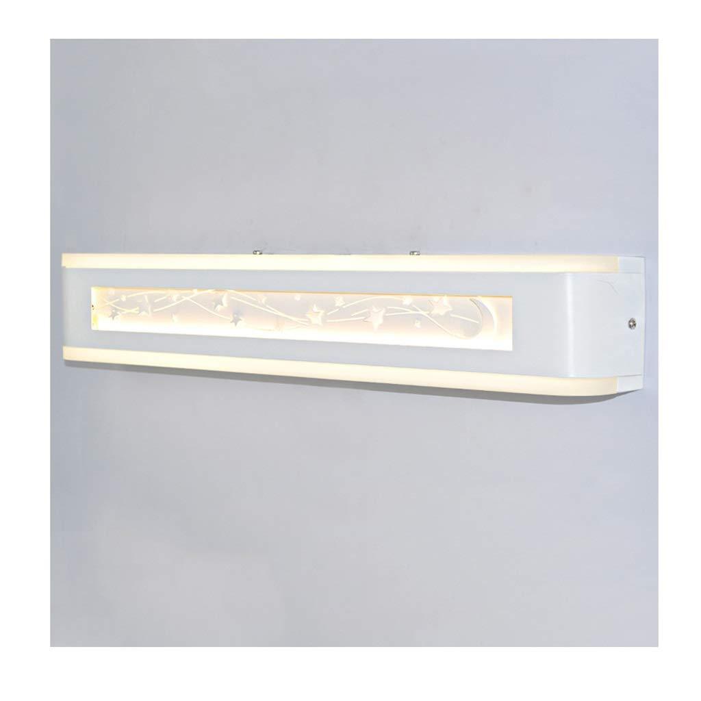 ミラーフロントLEDバスルームバスルームトイレドレッシングテーブル化粧ランプウォールランプホテル (版 ばん : 白色光, サイズ さいず : 53センチメートル) B07RT9D58S 白色光 53センチメートル