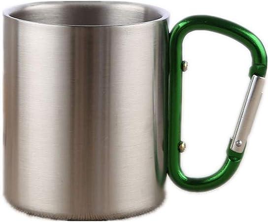 XGTsg Camping Taza Portable Travel Cup Doble Exterior con ...
