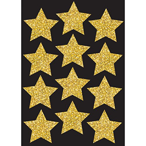 Ashley Productions Sparkle Stars Die-Cut Magnets, Gold, 3