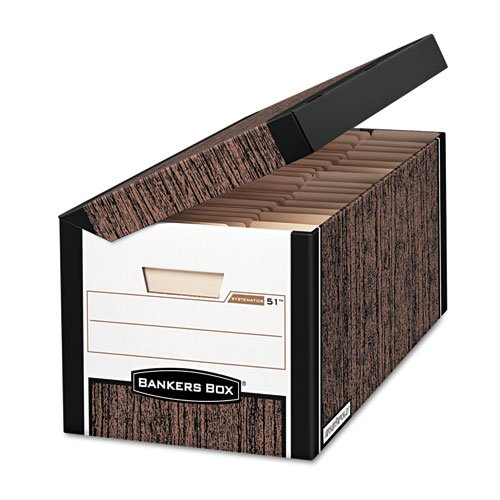 FEL00051 - Bankers Box Systematic - Letter, Woodgrain - TAA Compliant