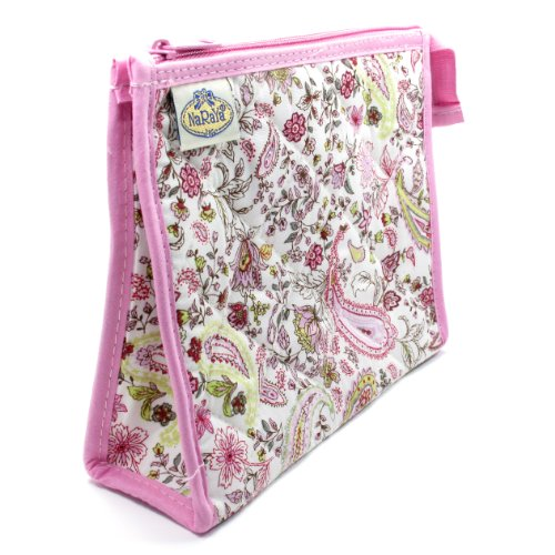 cosmetic-bag-full-polyester-lining-two-interior-side-pockets-pink-paisely-flower-design-cream-backgr