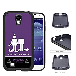 Psycho Girlfriend Multiple Cats Rubber Silicone TPU Cell Phone Case Samsung Galaxy S4 SIV I9500