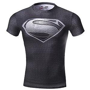 Cody Lundin Super Héros Homme Compression T-Shirt Mouvement Collant Vêtement Fitness Jogging Top