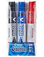 Pilot SP1530 V Board Master Whiteboard Marker 3 Piece Pack Black/Blue/Red