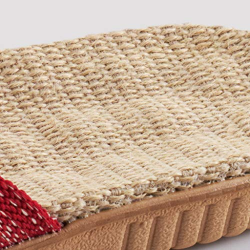 Pantoufles 9 11 Eur43 us 10 Couple Lin Ménage uk8 De Été Intérieur En Antibactériens Antidérapantes Style Massage Ax 5 Sandales atg wFRqBH55