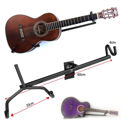 JJOnlineStore-Horizontal Gitarre Wand Aufhänger Display Halterung-Elektro-, Akustik Gitarre, Classic, Bass & Ukulele