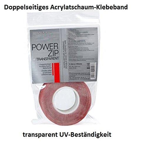 UV-best/ändig Doppelseitiges Klebeband transparent superstark Innen und Au/ßenbereich Wasserfest