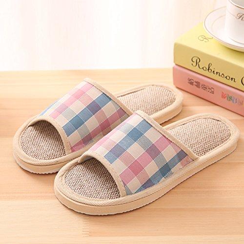 CWAIXXZZ pantofole morbide Colore solido durante la primavera e autunno inverno paio di pantofole di cotone soggiorno interni home pavimenti in legno e soffici lenzuola di cotone pantofole ,37/38 Codi