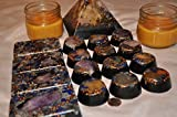 KAYJAY Wellness 17 PIECE QUARTZ CRYSTAL ORGONE ENERGY GIFT SET WITH 2 CANDLES FOR EMF PROTECTION, HOME OR OFFICE DECORATION, IMPROVED SLEEP, CONCEALED CARRY TRAVEL PROTECTION