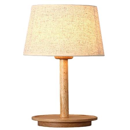 Llxxx Lámpara de Escritorio-Lámpara de Mesa de Madera Maciza ...