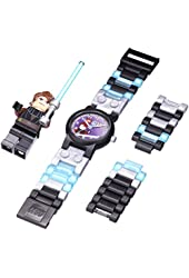 LEGO Kids' Star Wars Plastic Watch with Link Bracelet and Minifigure